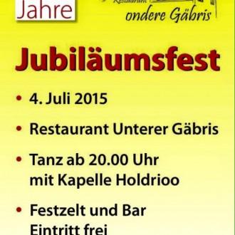 Jubiläumsfest 25 Jahre ondere Gäbris