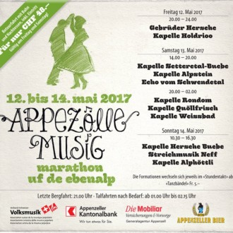 Appezölle Musigmarathon uf de Ebenalp, Abends