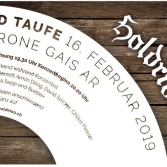 CD-Taufi unserer neuen CD am 16.2.19